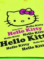 Żółty t-shirt dla dziewczynki HELLO KITTY z napisami                                  zdj.                                  4