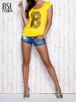 Żółty t-shirt z cekinową cyfrą 8                                  zdj.                                  7